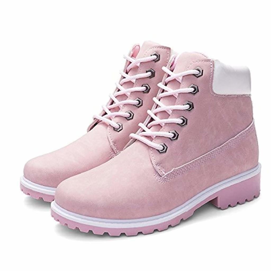 Femmes Chaussures,Sonnena Bottes Femme Automne Hiver/Bottines Courtes Cuir/Bottines Plates Fourrées/Boots Chaussures Lacer/Classiques Chaudes Impermeables Casual Taille 36-41 2019