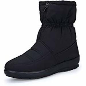 KOUDYEN Femme Bottes de Neige Boots Hiver Chaussures Plates Bottines Fermeture Éclair 2019