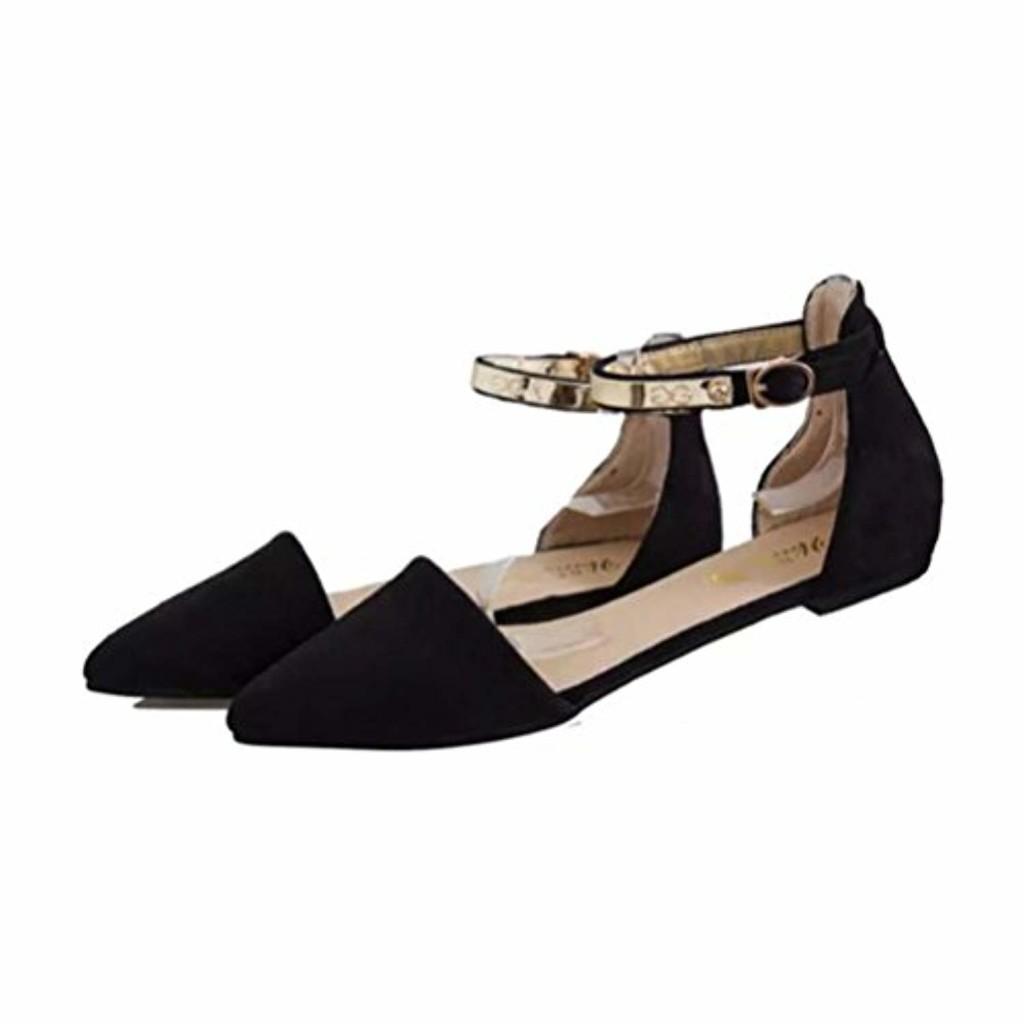 LUCKYCAT Prime Day Amazon, Sandales d'été Femme Chaussures de Été Sandales à Talons Chaussures Plates Slider Solide Cachemire Imitation Pantoufles Plates Retourner Chaussures Simples 2019
