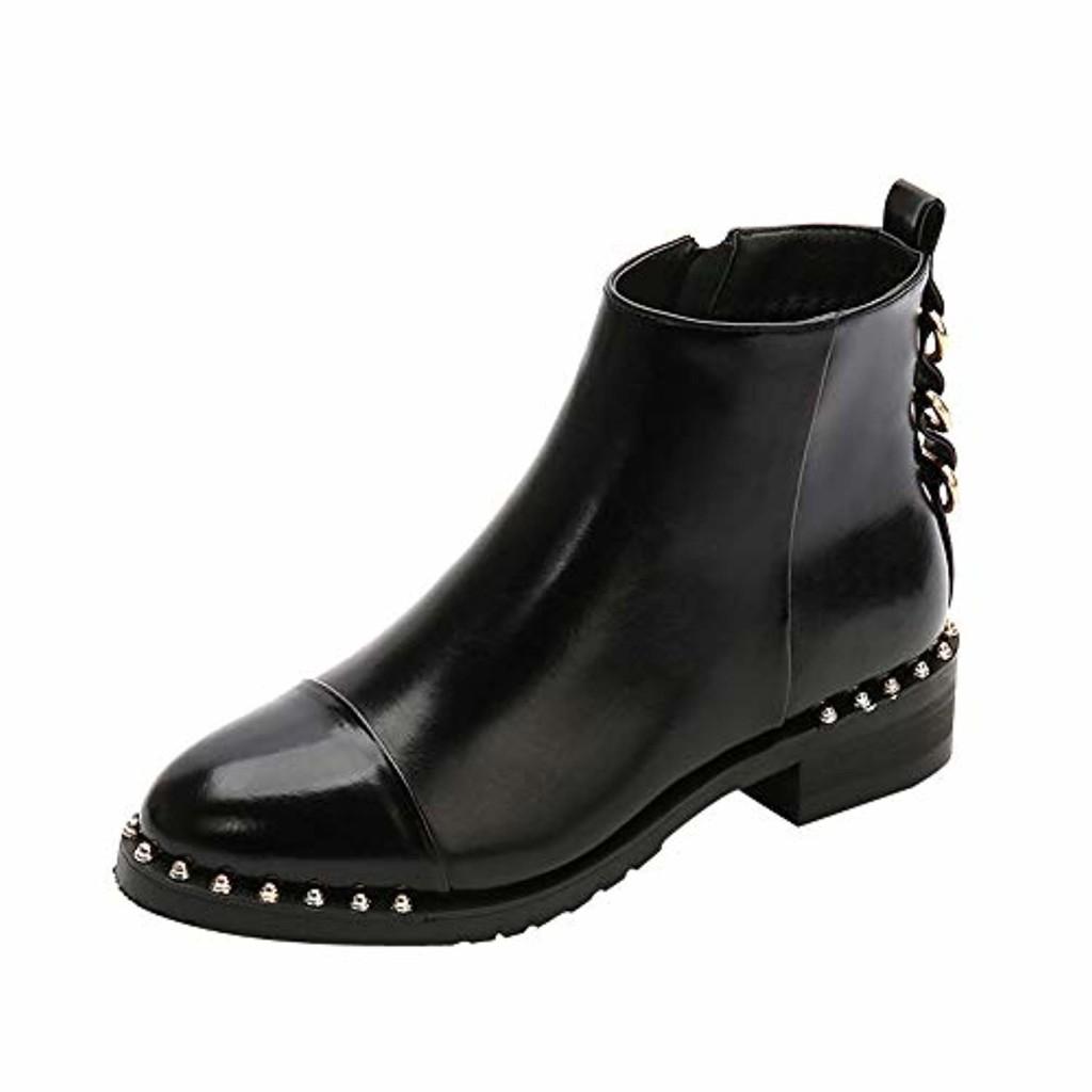 Sonnena- Bottes Femme - Martin Bottes - Boots Flattie Sport - Chaussures Classiques - Bottines-Rivet-Chaussures Plates 2019