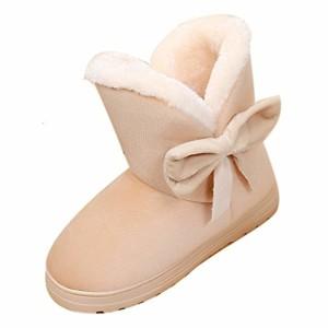 Bottes de Neige Femmes Binggong Bottes fourrées Femme Bottes de Neige Chaud Bas Lacet Rond Haut Bottes Hiver Boots Mode Courts Doublure Plate Chaussures 2019