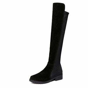 Sonnena Bottes Chaussures Femmes, Automne Hiver Bottes Genou Cuir Bottes de Neige Bottines Chaussures Femme,Mode FéMinine Cuisse Haut Talon ChaussuresClassiques Chaudes Impermeable 2019