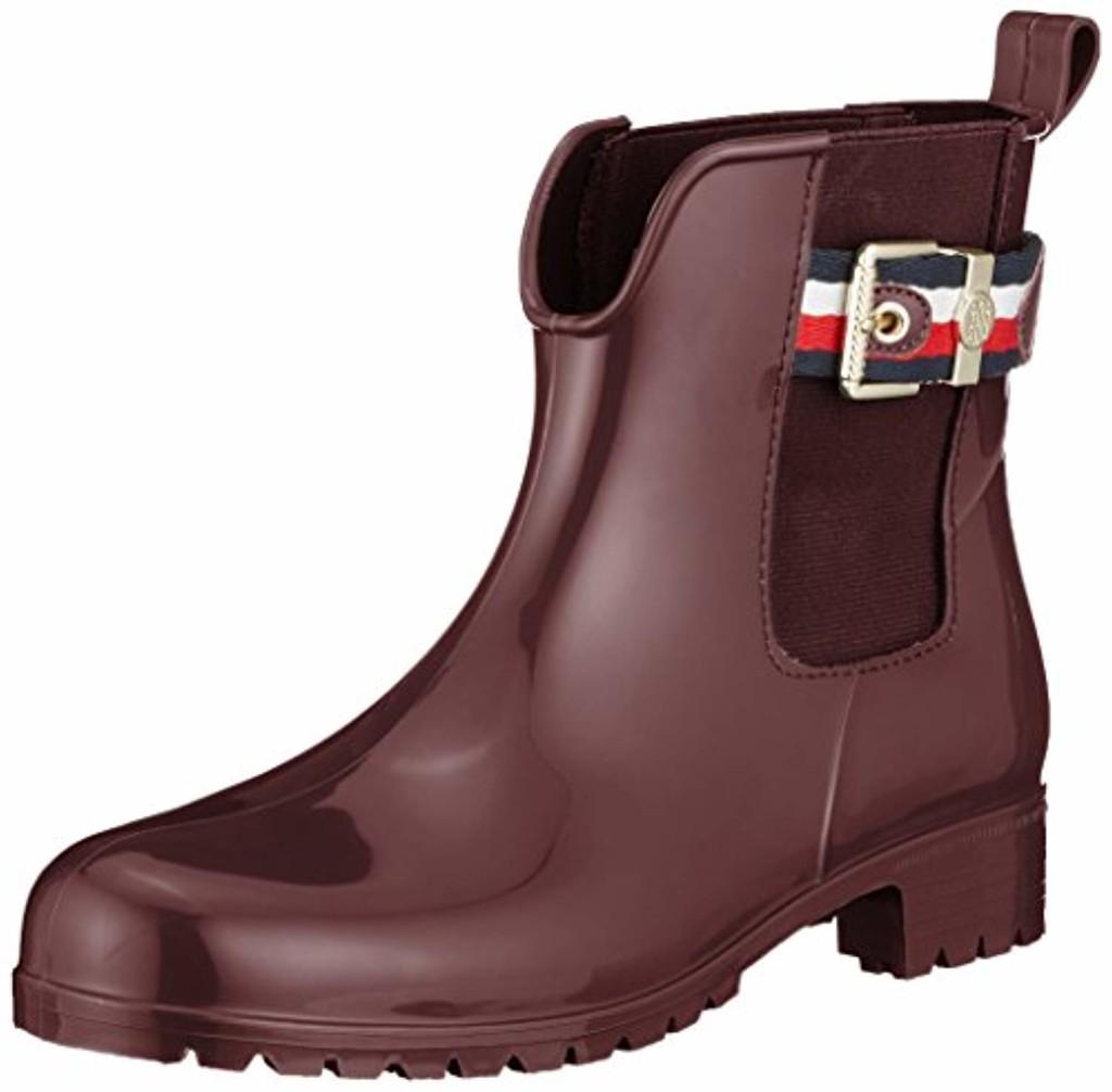 Tommy Hilfiger Corporate Belt Rain Boot, Bottes & Bottines de Pluie Femme 2019