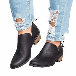 Bottine Femmes Plates Boots Femme Cheville Basse Cuir Bottes Talon Chelsea Chic Compensé Grande Taille Chaussures 3cm Beige Rose Gris Noir 35-43 2018