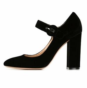 EDEFS Escarpins Femme Bride Cheville Boucle Bout Rond Mary Janes Chaussures Pompes a Talon de Mariee Mariage 2018