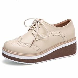 Femme Chaussures à Plateforme Plate Chaussures Brogue Vintage Split Cuir Bout Rond Derbies Casual Footwear 2019