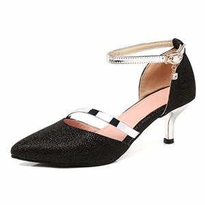OALEEN Escarpins Sexy Femme Petit Talon Bout Pointu Bride Cheville Chaussures Soirée Mariage 2019